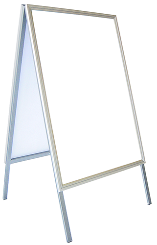 "A0 – Weather Resistant Snap Frame Sandwich Board ""Double Sided"" Large Profile Clip Frame"