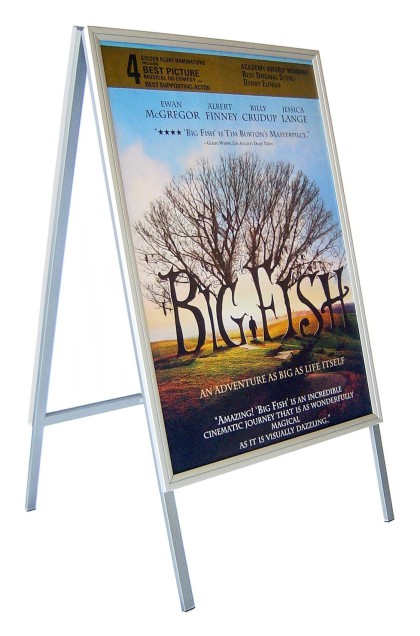 "A1 – Snap Frame Sandwich Board ""Double Sided"" Slim Profile Clip Frame."