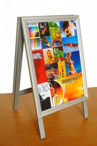 A frame display stand