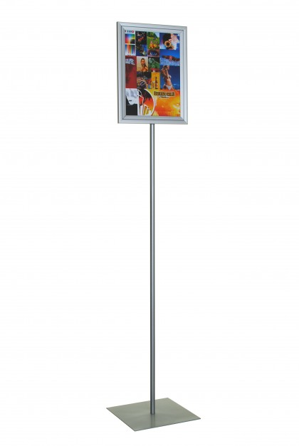 Lollipop – A4. Double Sided. Light Duty. Portrait / Landscape. 250 mm Square Base.