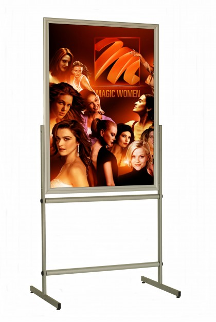 Display Stand – A0. Double Sided. Portrait. 2100 mm. UV Protected