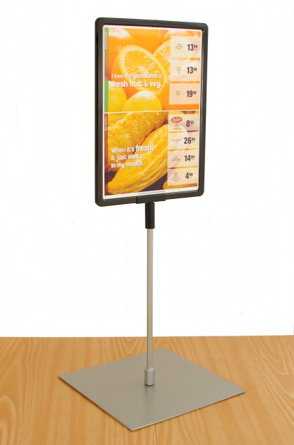 Lollipop – A4  Counter Top Slide In Plastic Frame (Double Sided)